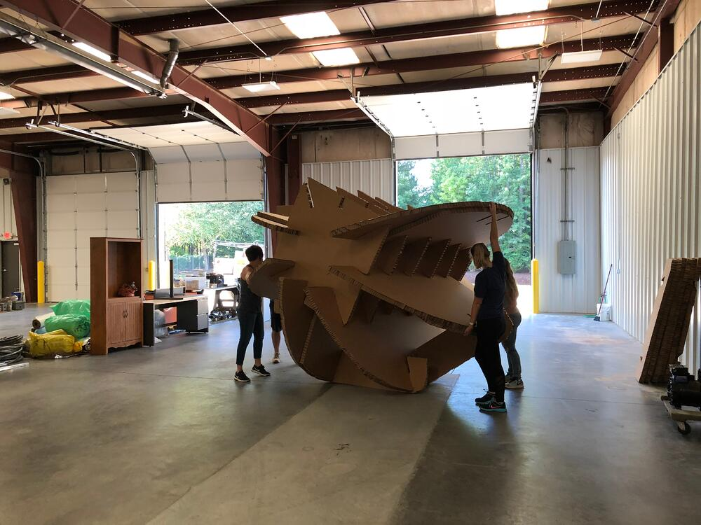 Building the world's largest paper ball for IMTS 2018