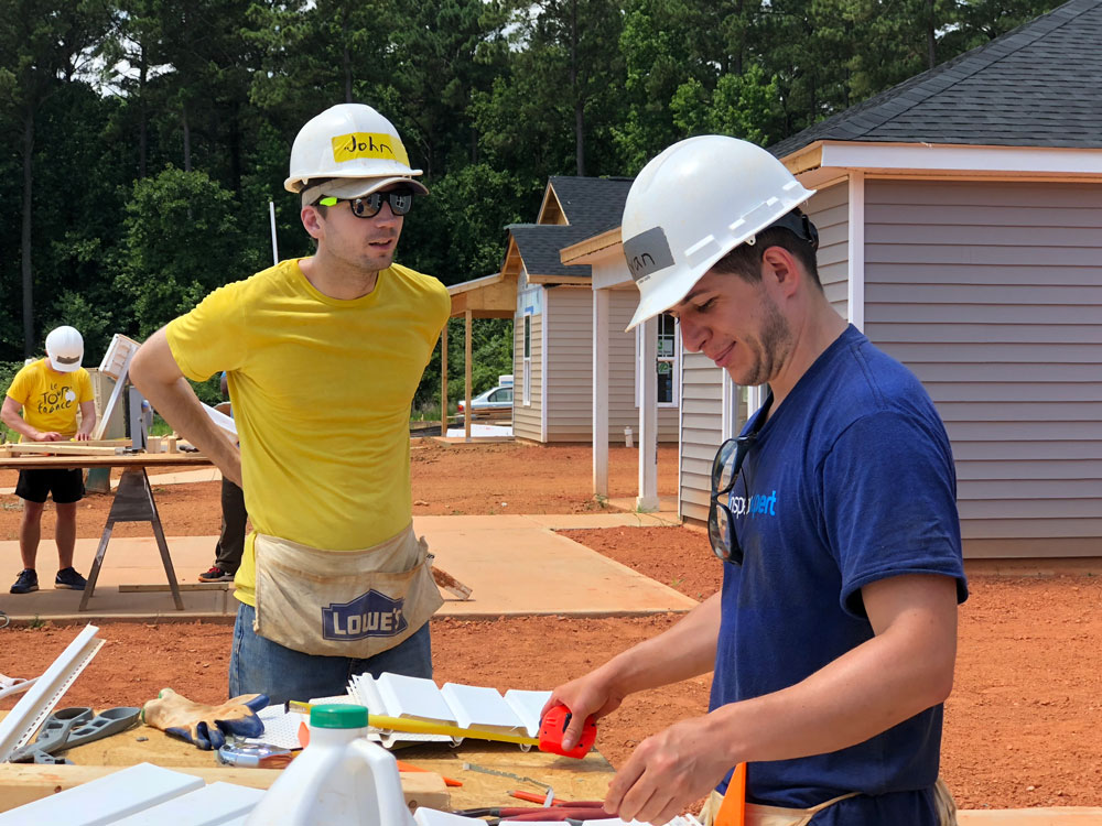 InspectionXpert volunteering at Habitat for Humanity