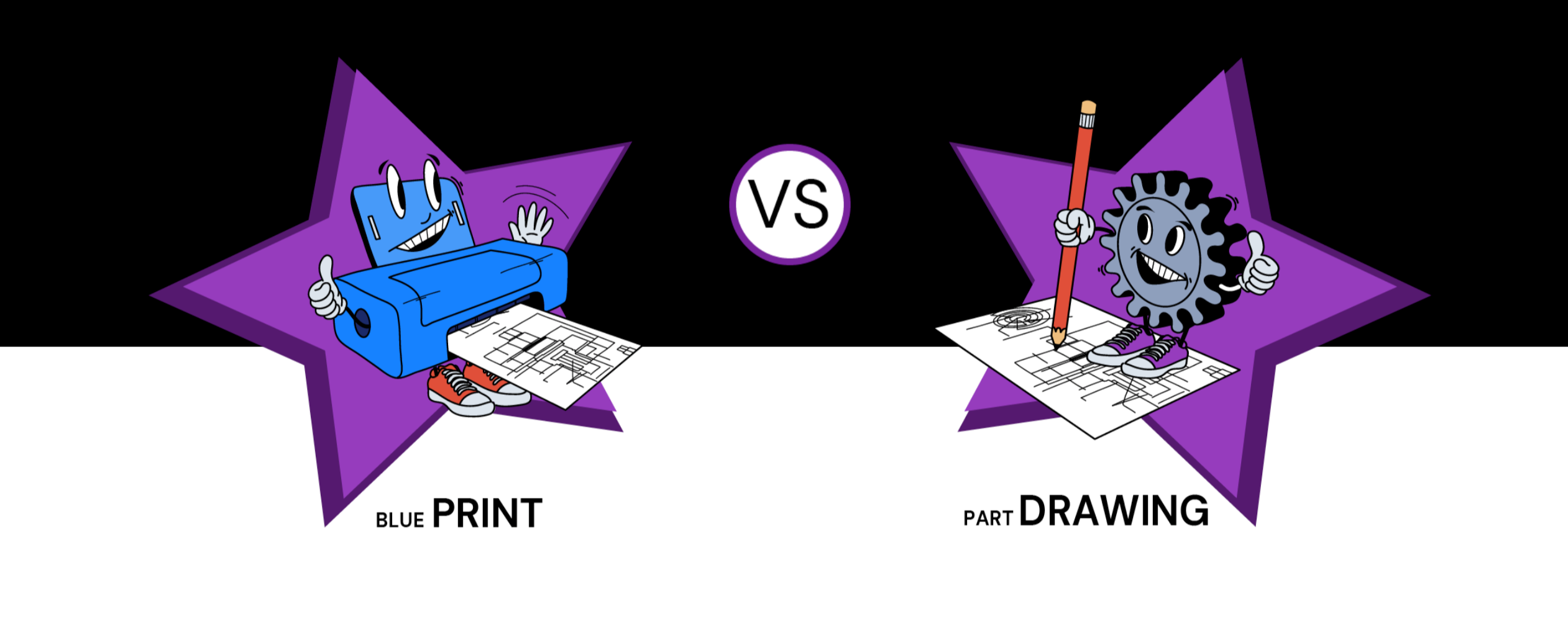 what do you call the paper you get from your customer? A blueprint or a part drawing?