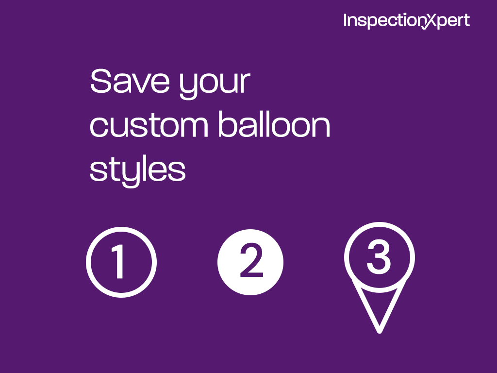 InspectionXpert customize balloon styles for your ballooned part drawings